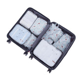8 Pcs/Set Travel Storage Bags Waterproof Packing Cube Portable Clothing Sorting Organizer