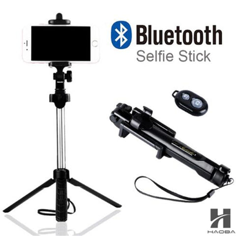 Fghgf T1 2018 Tripod Monopod Selfie Stick Bluetooth With Button Pau De Palo Selfie Stick For Iphone