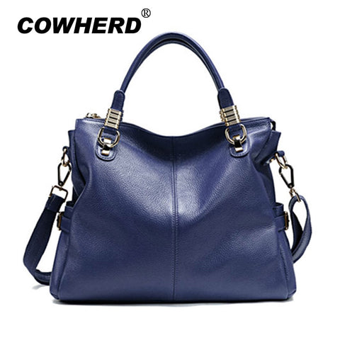 Newest Candy Colors Handbags For Women First Layer Genuine Cow Leather Fashion All-Match Lady