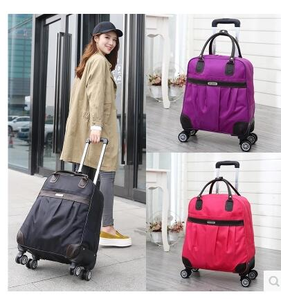 Wheeled Trolley Bag Travel Luggage Bag Carry On Rolling Luggage Bag Travel Boarding Bag With