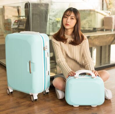 Women Travel Luggage Set Trolley Suitcase Cosmetic Suitcase Rolling Bags  On Wheels  Women
