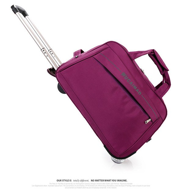 Fashion Travelbag Women Men Travel Bags Trolley Travel Bag With Wheels Rolling Carry On Luggage