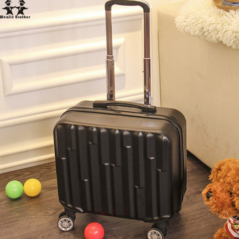 Wenjie Brother 16 Inch Trolley Case Wheel Mounted Chassis Wear 16-Inch Suitcase Waterproof Travel