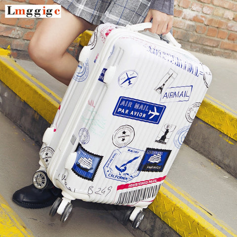"New Travel Suitcase Bag,20""22""24""26"" Rolling Luggage,Women Carry On, Men Nniversal Wheel Trolley"