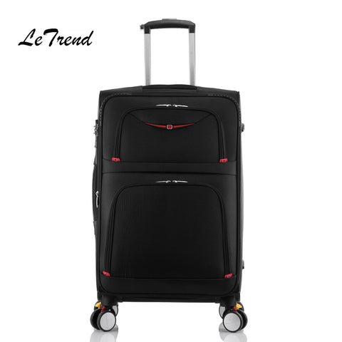 Letrend New Fashion 22 Inch Oxford Men Rolling Luggage Trolley Bag Suitcases Spinner Student Travel