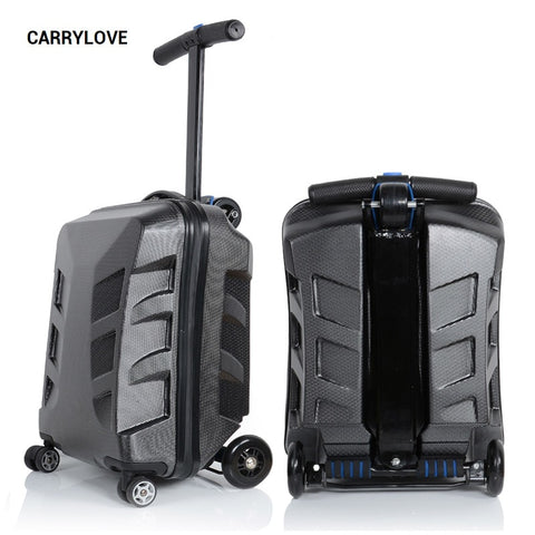Carrylove Cartoon Luggage Series 21 Sizepersonality Metal Can Glide Pc  Rolling Luggage Spinner