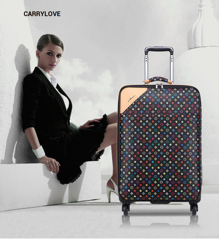 Carrylove  Fashion Luggage Series16/20/22/24 Size High Quality  Pvc Star Rolling Luggage  Brand