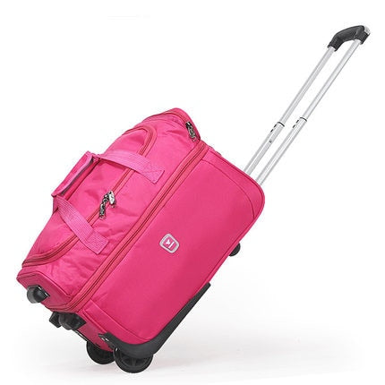"High Capacity Travel Suitcase Bag,Waterproof Oxford Cloth Rolling Luggage,21""23""27"" Inch Trolley"