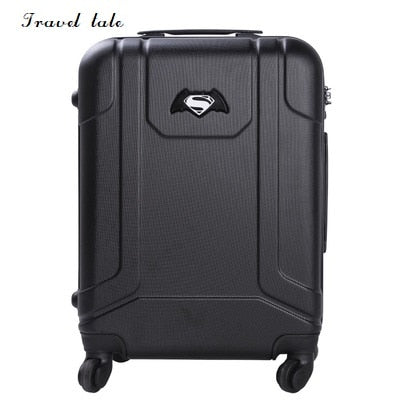Travel Tale Batman Superman Cartoon Travel Luggage 20 Inches Abs+Pc Rolling Luggage Spinner