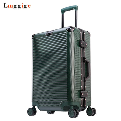 "Aluminum Frame+Pc Rolling Luggage Travel Suitcase Bag,20""24""26""29"" Inch Trolley Case,Nniversal"