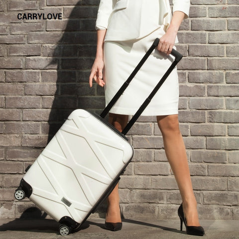 Carrylove Fashion Business Luggage Series 20/24/26 Inch Size Pc+Abs Rolling Luggage Spinner Brand