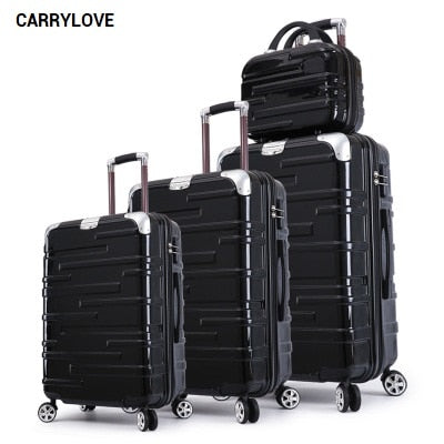 Carrylove Fashion Luggage Series 20/24/28 Inch Pc Handbag And  Rolling Luggage Spinner Brand Travel