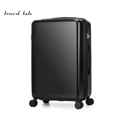 Pure Color  Fashion  High Quality  20/24 Inches Abs+Pc Rolling Luggage Spinner Travel Suitcase