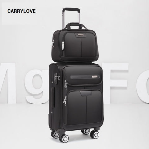 Carrylove Business Leisure  20/22/24 Inch Oxford Handbag And Rolling Luggage Spinner Brand Travel