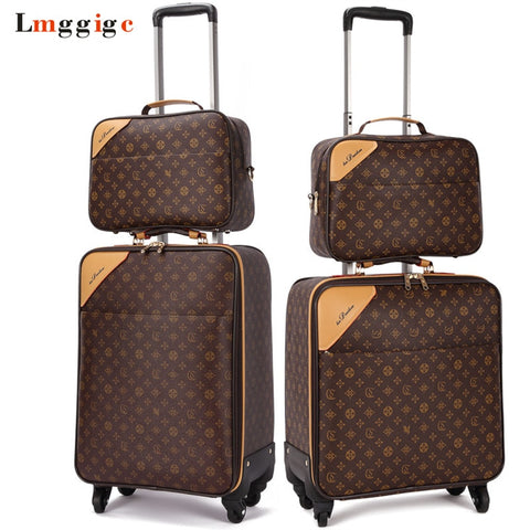 Classic Travel Suitcase Set ,Brand Rolling Luggage Bag,Waterproof Pvc Business Trolley