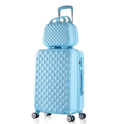 14 20 22 24 28Inches(Sold By 2 Pieces Set) Abs+Pc Hardside Trolley Luggage