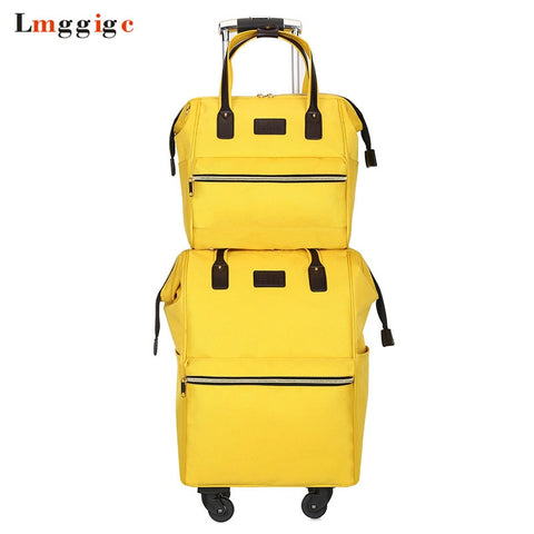 Rolling Cabin Luggage Set,Travel Suitcase Bag,Oxford Cloth Trolley Case,Nniversal Wheel Carry-On,