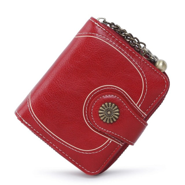 a2a82ee1a97e 2018 New Vintage Button Phone Purses Women Wallets Female Purse Leather  Brand Retro Ladies Long