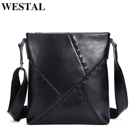 Westal Crossbody Bags Casual Men'S Bags Male Genuine Leather Shoulder Messenger Bag Men Leather