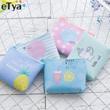 Etya High Quality Brand Wallet Women Animal Picture Cat Small Purse Pu Leather Wallet Female Zipper