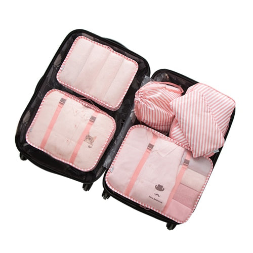 6Pcs/Set Convenient Travel Storage Bags Clothes Underwear Cosmetic Toiletry Organizer Luggage