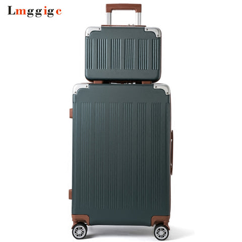 New Rolling Suitcase Bag Set,Travel Luggage With Handbag ,Women Trolley Case With Wheel, Abs