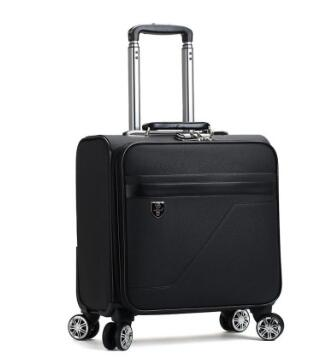 Men Business Travel Luggage Bag Pu Spinner Suitcase Travel Rolling Luggage Bags On Wheels Carry