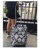 Travel Luggage Trolley Backpacks Bags On Wheels Women Business Travel Trolley Bags Oxford Rolling