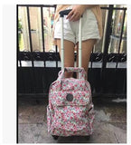 Women Travel Trolley Bags Woman Travel Luggage Trolley Backpacks Bags With Wheels Oxford Rolling