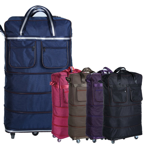 "Lightweight Large Capacity Universal Wheels 32"" Checked Bag Folding Wheel Bag Travel Bag  Moving"