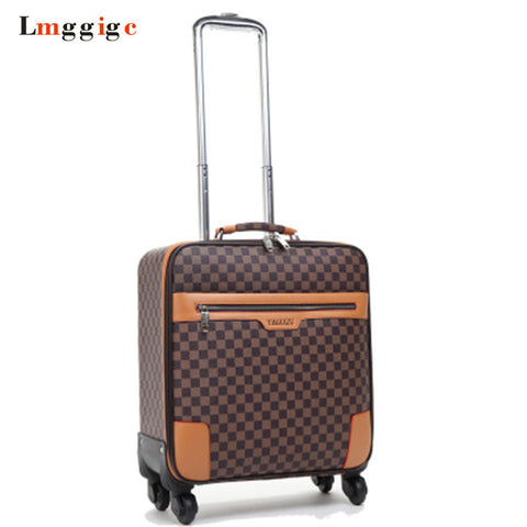Waterproof Pu Cabin Travel Rolling Luggage Suitcase Bag ,Trolley Case With Wheel ,Laptop Bag,