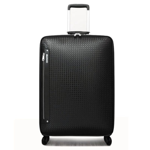 Quality Leather Trolley Travel Bag Luggage Commercial 16 20 24 Cowhide Universal Wheel Luggage