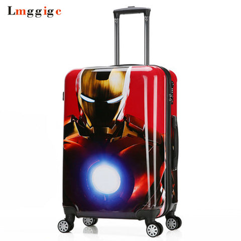 Spider-Man Luggage Bag,Batman Suitcase, Child'S Travel Box,Captain America Trolley ,Iron Man
