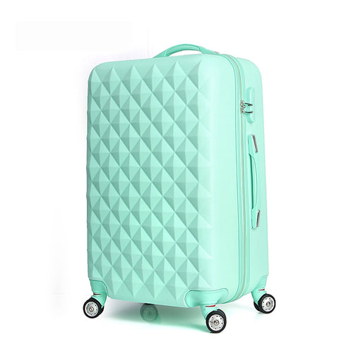 "20"" High Quality Diamond Lines Trolley Suitcase /Travell Case Luggage/Pull Rod Trunk Rolling"