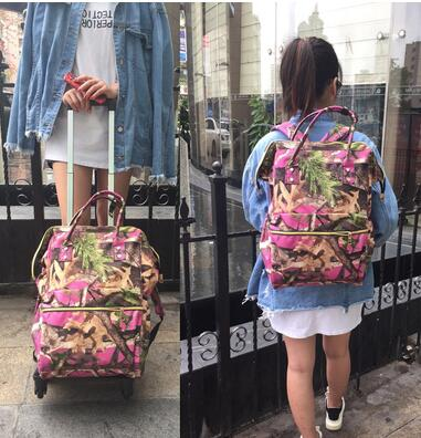 Wheeled Backpack Bag For Women Travel Luggage Trolley Backpacks Bags On Wheels Rolling Luggage