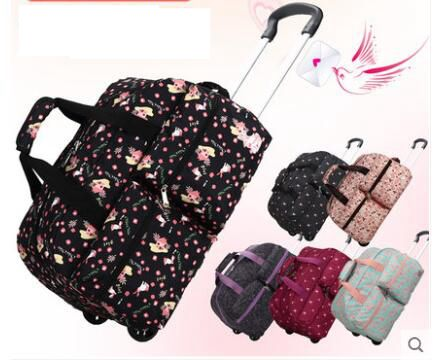 Women Cabin Luggage Rolling Bags With Wheels Women Travel Trolley Bag Carry On Wheeled Bags