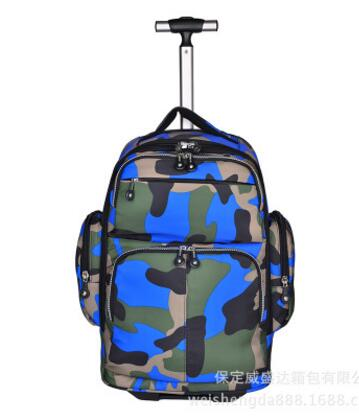 Rolling Luggage Bags Wheeled Rolling Backpack Women Travel Trolley Bag Men Travel Trolley Bag