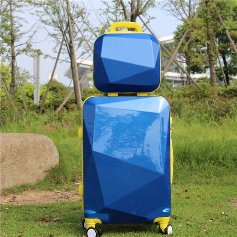 Women Luggage Travel Suitcase Bag ,Abs+Pc Trolley Case With Rolling , Fashion Universal Wheel