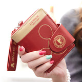 Women Small Wallet Cartoon Mickey Cute Coin Purse Hasp Card Holder Womens Wallets And Purses Female