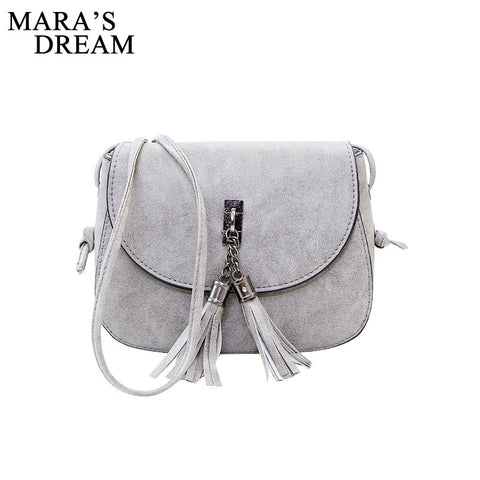 Mara'S Dream 2018 Mini Women Messenger Bags Pu Leather Women Shoulder Bag Tassel Solid Clutches