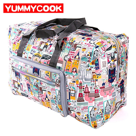 Men Women Folding Travel Bags Large Capacity Clothes Packing Cubes Organizer Hand Luggage Duffle