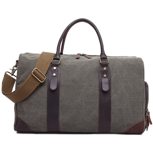 Mco 2018 Vintage Waxed Canvas Men Travel Duffel Large Capacity Waterproof Travel Bags Carry On
