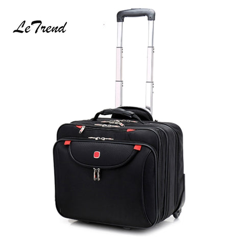 65cbeed11 Letrend Multifunction Men Business Rolling Luggage Casters Suitcases Wheels  16 Inch Oxford Cabin