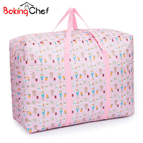 Bakingchef Large Cute Rabbit Clothing Storage Bag Shifting Of Season Quilt Storage Moving Luggage