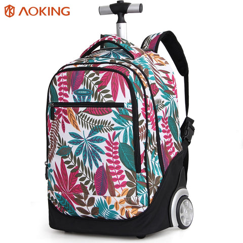 721207045f32 Aoking Travel Trolley Backpack Large Capacity Luggage Leisure Backpack  Women Wheeled