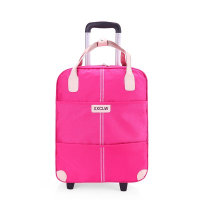 Women Rolling Luggage Bag Set,Waterproof Oxford Cloth Travel Suitcase,Wheel Trolley Case,Portable