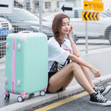 2018 New Fashion Rolling Luggage Bag,Women Travel Suitcase,Universal Wheel Abs Trolley
