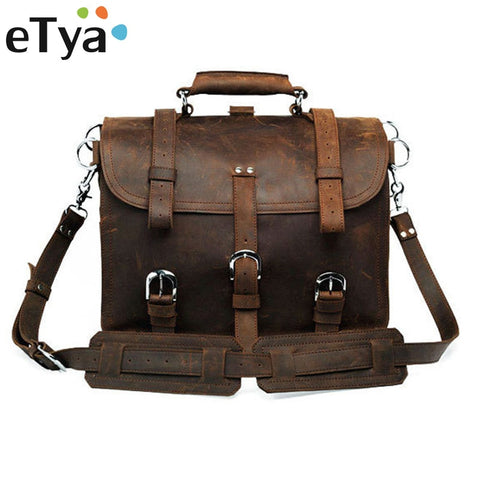 Genuine Leather Men Bag Business Briefcase Messenger Handbags Men Crossbody Bags Men'S Travel