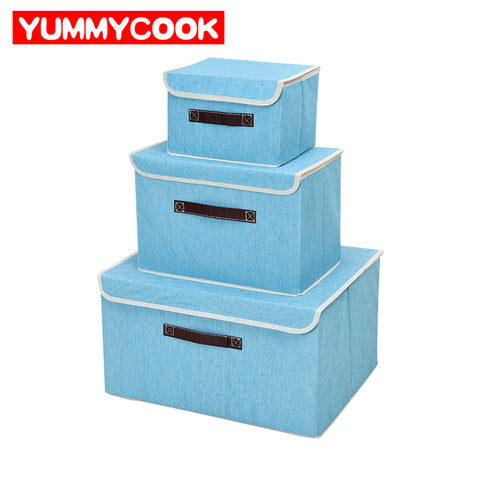 Non-Woven Clothing Folding Cover Storage Box Closet Organizer Underwear Shoes Toy Sundries Wardrobe