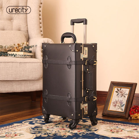 2018 Suitcase For Makeup Designer Luggage Wheel Spinner Handmade Pu Leather Geniune Leather Pu